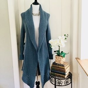 ANGEL OF THE NORTH ANTHRO Dusty Blue Long Cardigan